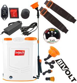 Pulverizador Costal 20 Bateria Eletrico Manual Bivolt Intech
