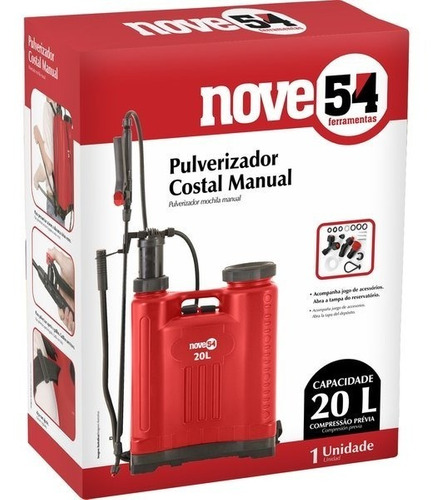 pulverizador costal 20 litros nove54