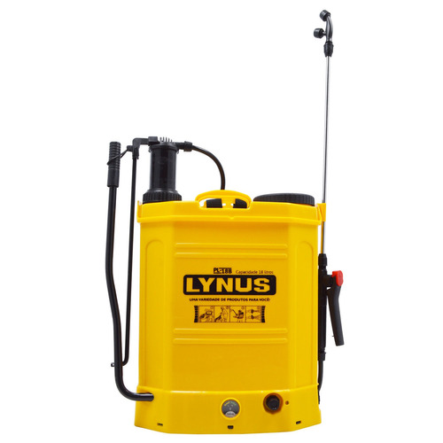 pulverizador costal agrícola a bateria 18l pl-18b lynus