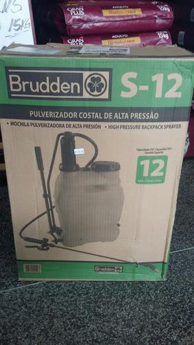 pulverizador costal de alta pressão brudden 12l