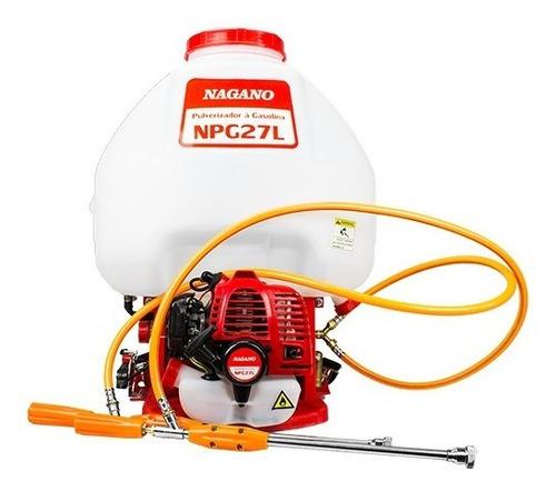 pulverizador costal à gasolina 27 litros - nagano