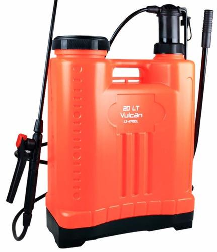 pulverizador costal pressão lx-vp 20 litros vulcan + 4 bicos