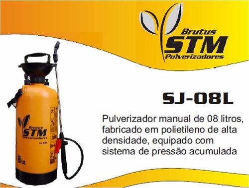 pulverizador costal sj- 08 litros - stm brutus - zero