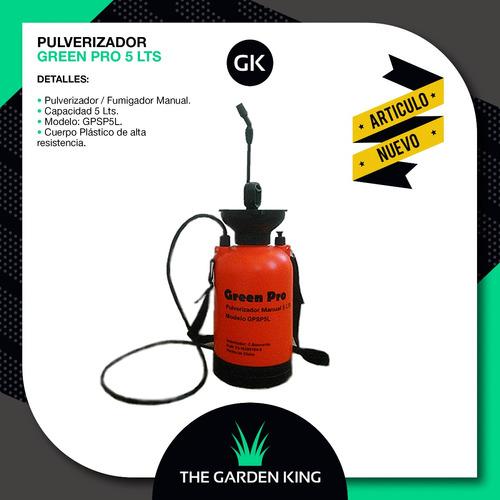 pulverizador fumigador 5 litros green pro a presión manual