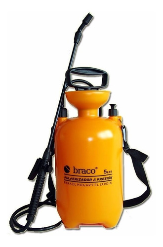 pulverizador fumigador 8lts presion braco