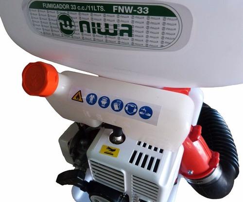 pulverizador  fumigador niwa fnw 33 11 lts 33 cc