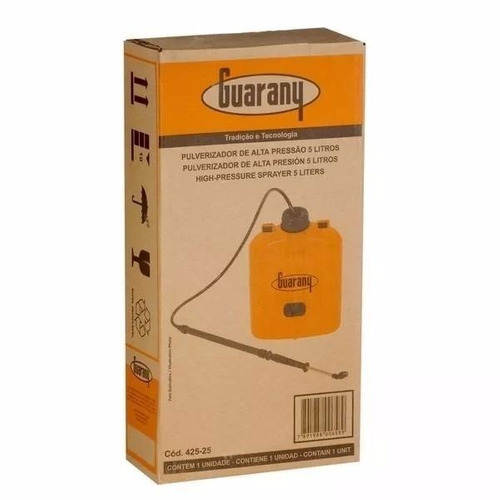 pulverizador manual costal de 5 litros guarany 425.25