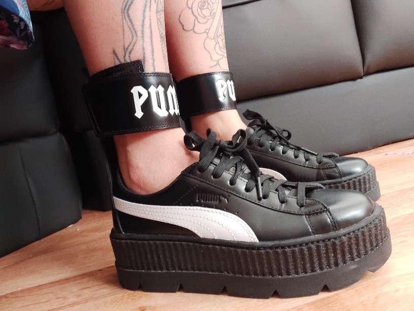 check out 132a8 16d6f Puma Ankle Strap Sneaker by Rihanna