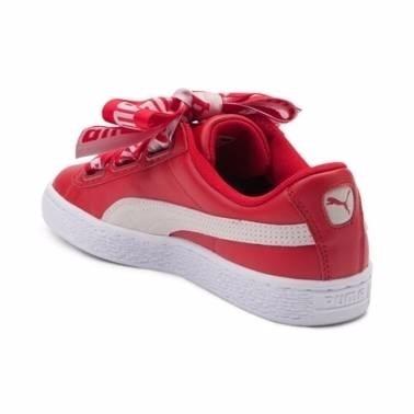 puma basket heart rojas