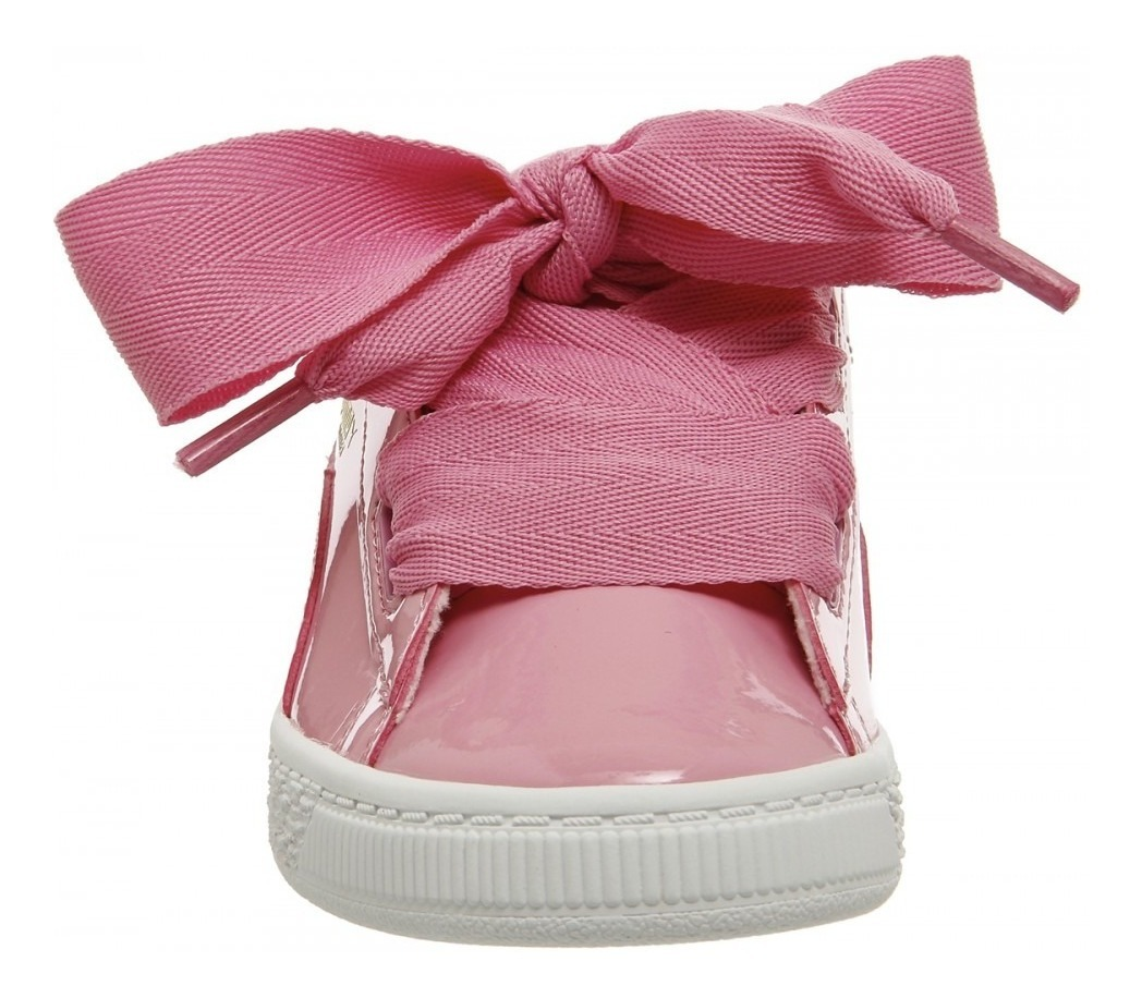 cheap for discount cb6a8 e7759 Puma Basket Heart Patent Prism Pink 363353 03 Bebe