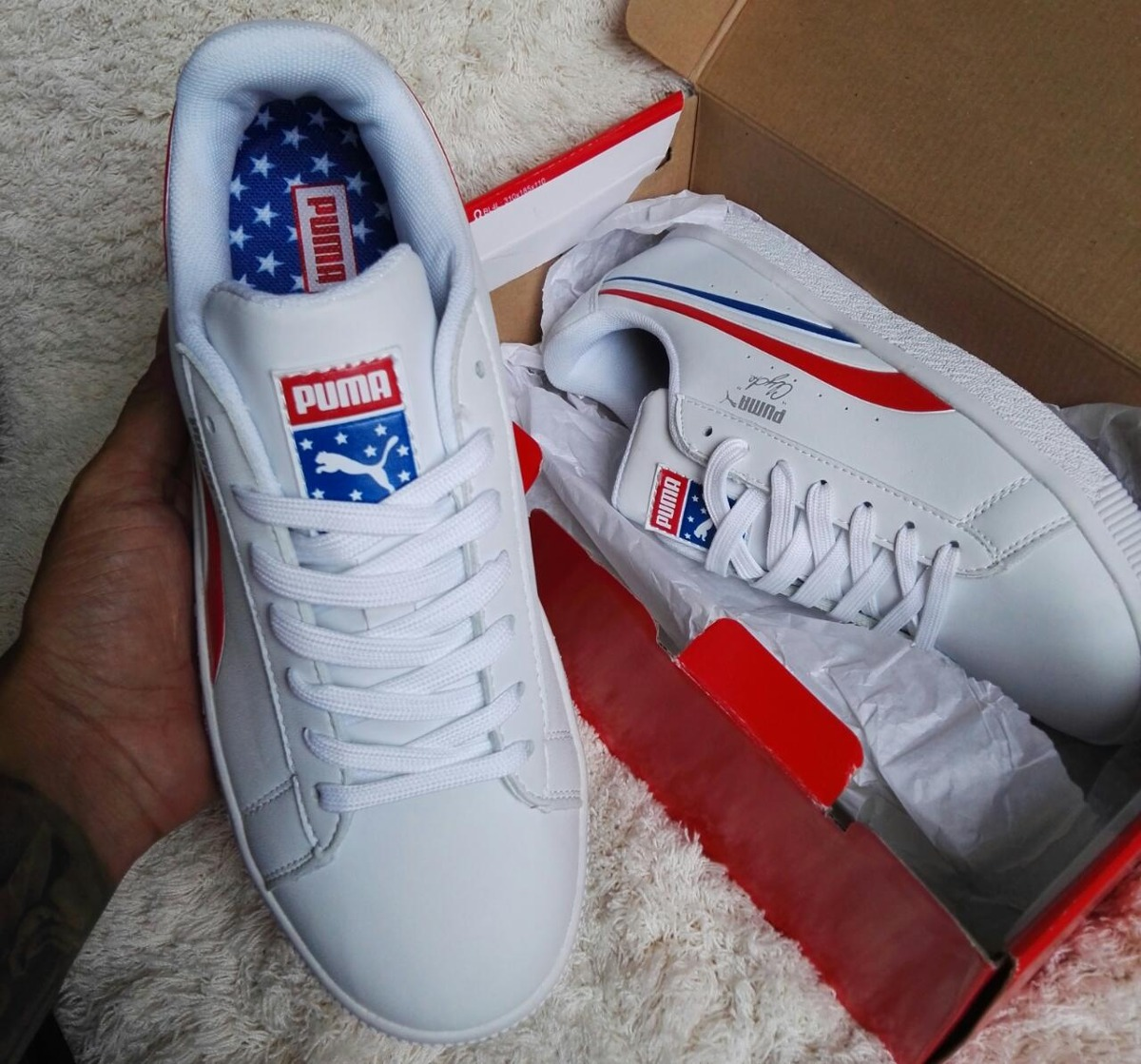 b80b9375aa3d Puma Clyde 4th Of July Independence Day -   175.000 en Mercado Libre
