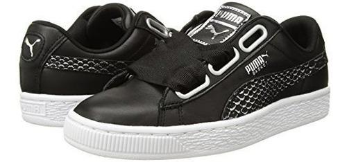 best sneakers f03d9 c5fdb Puma Dama's Basket Heart Oceanaire Wn Sneaker Amz