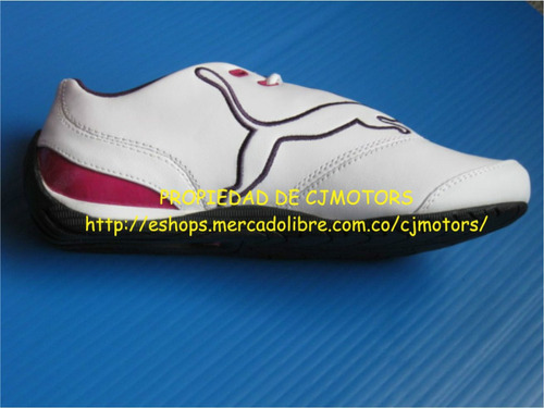 puma drift cat iii 3 tennis  fucsia dama  blanco puma