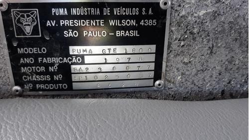 puma gte 1978 impecável placas pretas