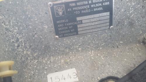 puma gts 1980 placas pretas ótimo estado