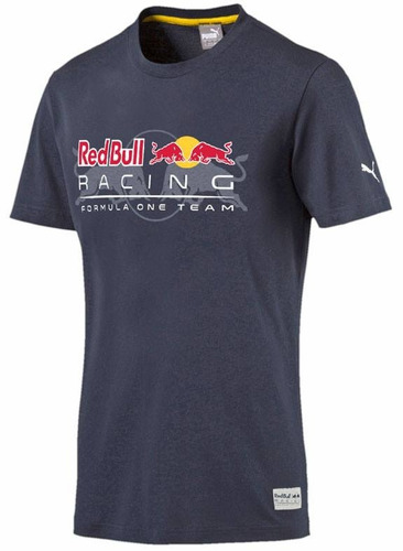 puma playera red bull racing-- formula uno --  azul     2018