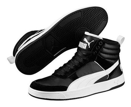 puma rebound street v2 black- white 363715 02