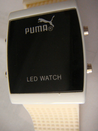 puma sport watch led  relog puma deportivo blanco