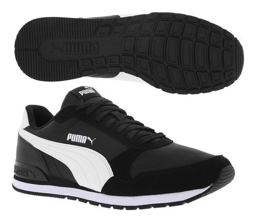 puma st runner v2 nl black white 365278 01
