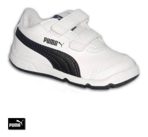 puma stepfleex 2 sl v inf white black 190115 06 niño