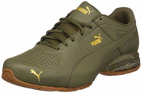 puma surin 2 premium sneaker oliva.dorado  10.5 us