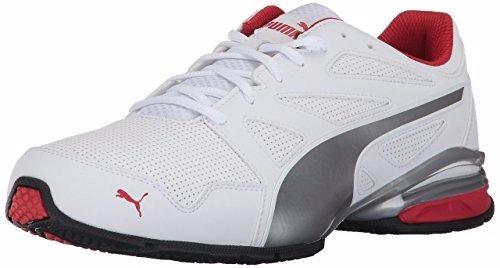 puma tazon modern sl fm sneaker blanco-rojo 7  us