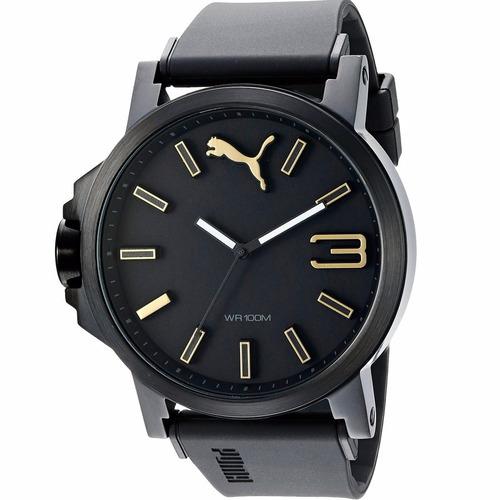 puma ultrasize black 50mm pu103461020 relojes diego vez