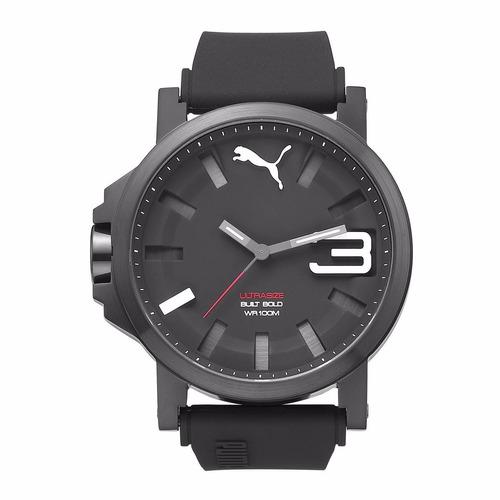 puma ultrasize black bold 50mm acero pvd relojes diego vez