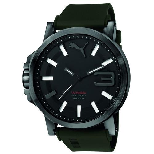puma ultrasize bold 50mm caucho verde mili relojes diego vez