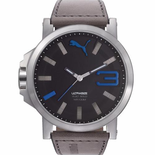 puma ultrasize bold 50mm correa piel genuina reloj diego vez