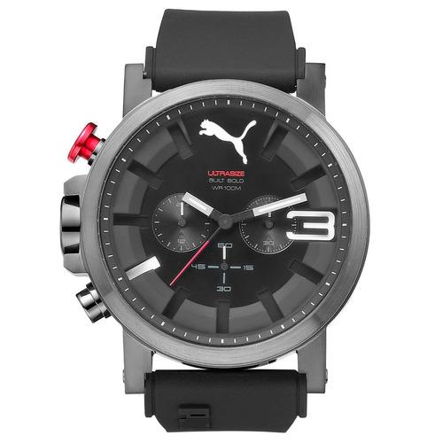 puma ultrasize bold cronógrafo rojo   50mm relojes diego vez