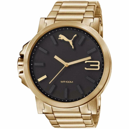 puma ultrasize metal full gold 50mm diametr reloj diego vez