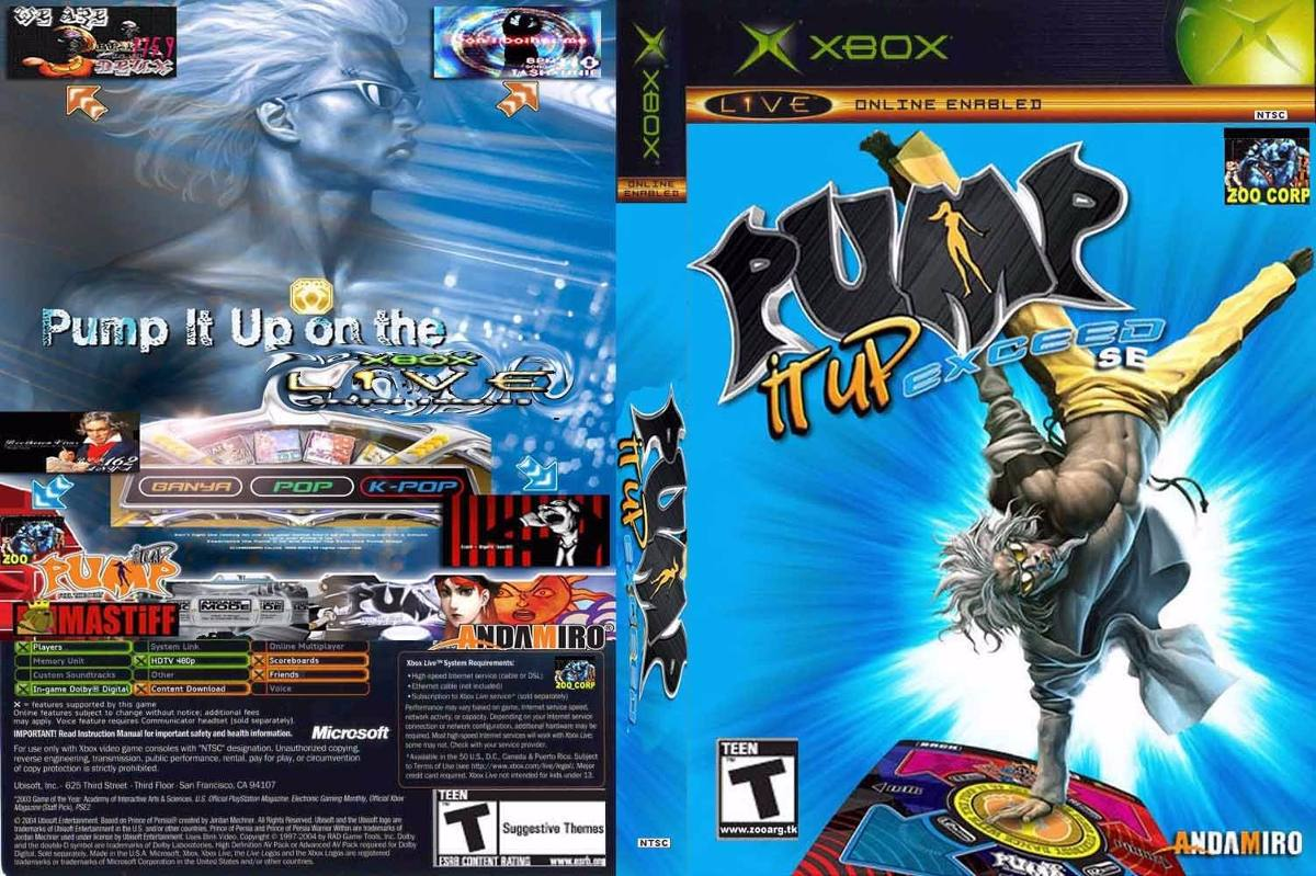 Pump It Up Exceed Xbox Clasico Tapete Juego Adaptador Pc 549 00