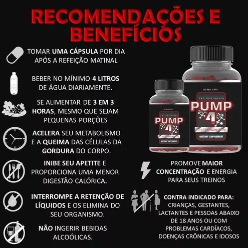 pump4 - emagrecer e definir - único emagrecedor