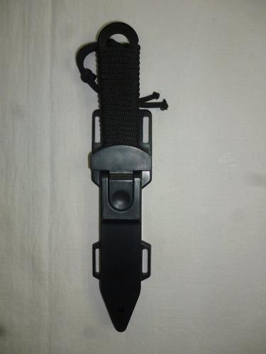 puñal militar doble filo tipo rambo con piernera resistente