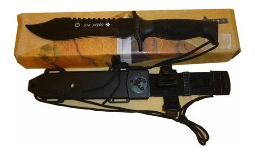 puñal militar oso negro resistente camping alta calidad