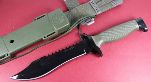 puñal militar oso negro super resistente calidad mejorada