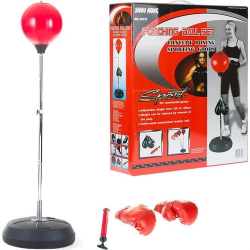 punching ball boxe saco pancada com luvas e altura ajustável