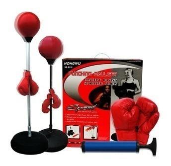 punching ball kit completo com luvas altura ajustavel saco p