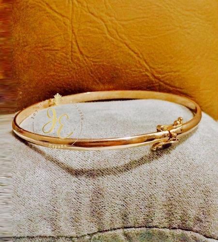 puñera de oro ley 18k pulsera esclava mujer cd_10 jespaña