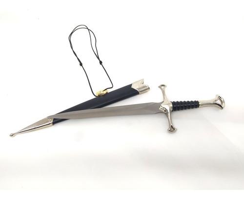 punhal espada adaga senhor dos anéis anduril narsil kit fã