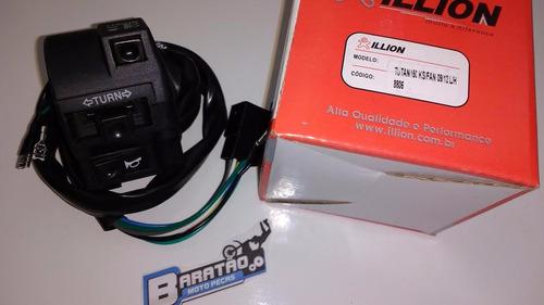 punho interruptor luz esquerdo titan 150 ks/es/esd/ex 09~13