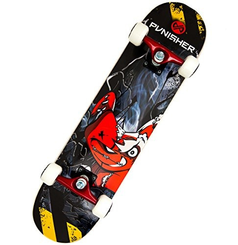 punisher skateboards teddy completa el monopatín de 31 pulga