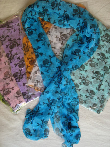 punk skull bufanda shawl wrap algodon gran variedad modelos!