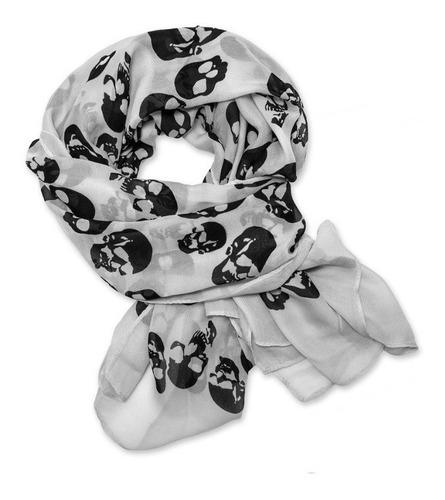 punk skull bufanda shawl wrap enorme fotos 1-3-5-6 y 7