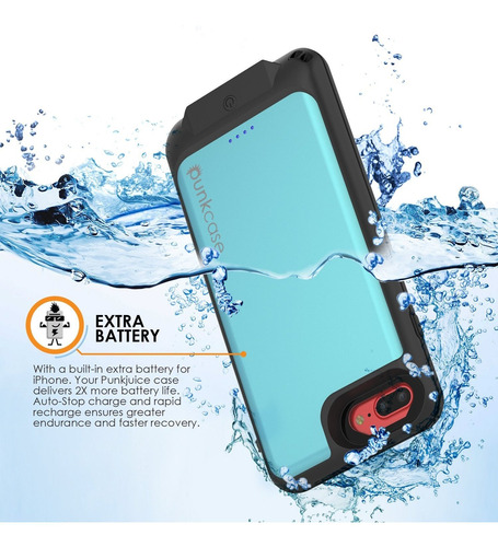 pretty nice 3f63c 7cf87 Punkjuice iPhone 8 Plus Battery Case - Waterproof Slim Porta