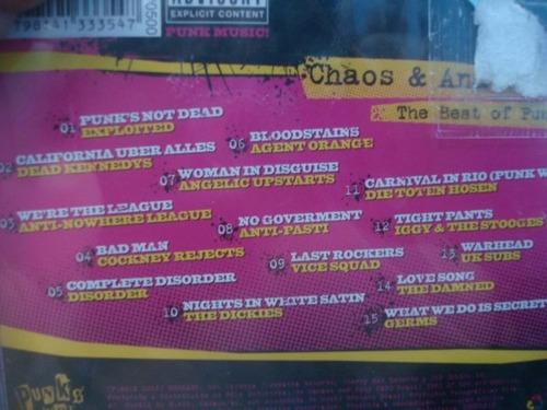 punk's not dead - chaos & anarchy cd novo original raro lacr