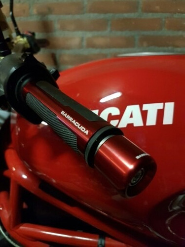 puños moto barracuda universal con contrapesos deportivos