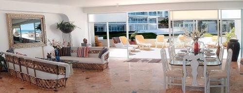 punta cancun  se vende departamento de lujo frente al mar!  c1999