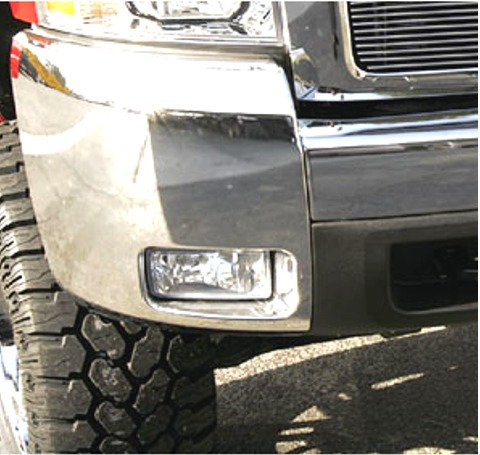 punta der cromada en defensa silverado 2500 3500 2007 - 2013